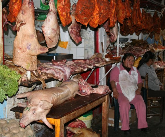 Meat Market, Huraz, Peru