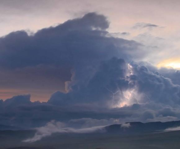 Storm over Paramo Grasslands, Ecuador