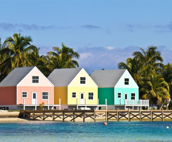 Green Turtle Cay homes, Abacos, Out Islands, Bahamas