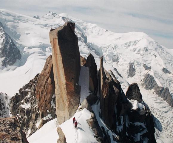 Cosmiques Arete, Aguille du Midi, Mont Blanc, France