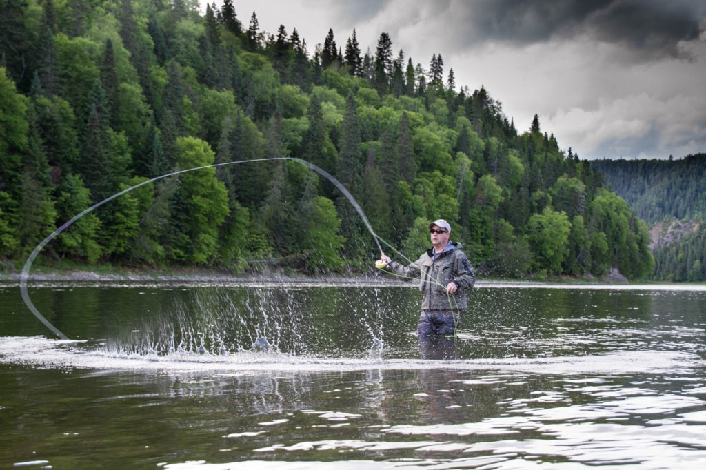 Ray Plourde lets a spey cast rip