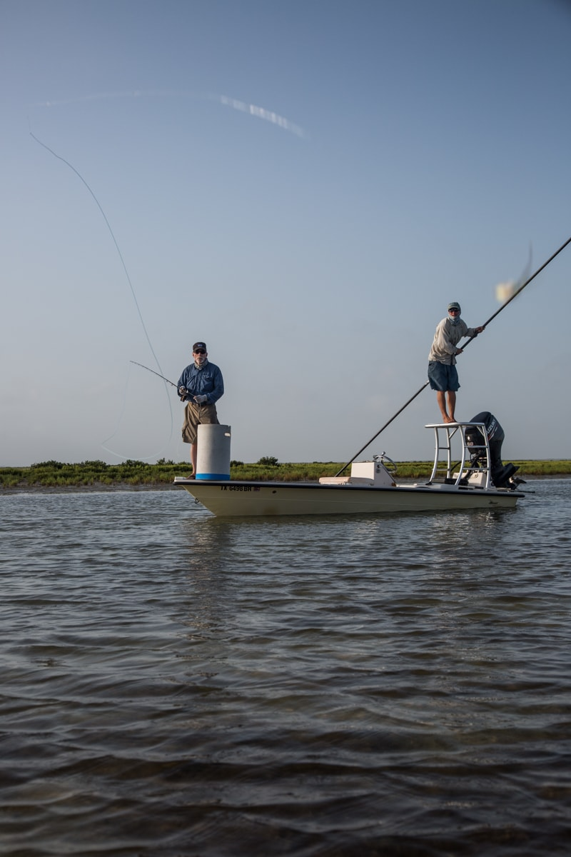 Swept by a clouser amid the black mangroves