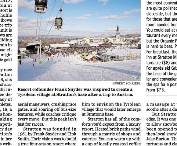 Golden Opportunities for Skiers