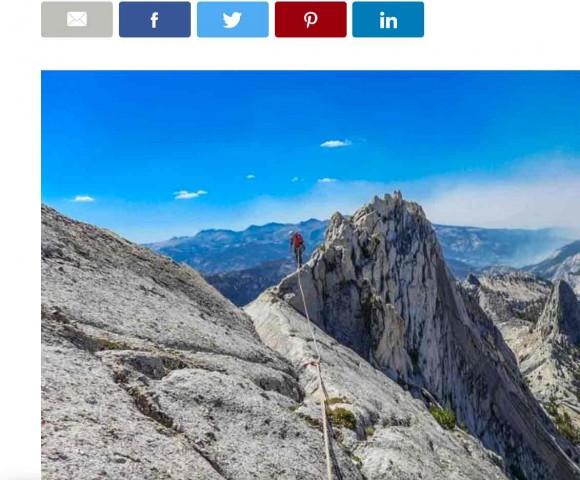 At Yosemite, a remote alpine peak, smoke, and thin air